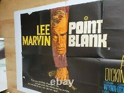 Rare Point Blank Original Uk Quad Movie Poster 1967 Lee Marvin