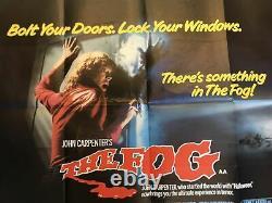 Rare The Fog (1980) Original UK Quad Film Poster John Carpenter Movie