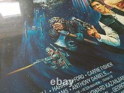 Return Of The Jedi Original Uk Quad Movie Poster 1983 Rolled London Underground