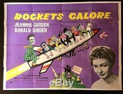 Rockets Galore Original Quad Movie Cinema Poster Basil Dearden 1958 Comedy