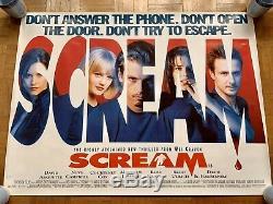 SCREAM UK British Quad Cinema Movie Poster RARE Original D/S Rolled 1996 40x30