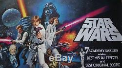STAR WARS 1977 RARE ORIGINAL MOVIE POSTER UK BRITISH QUAD ROLLED NM 30x 40