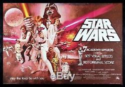 STAR WARS CineMasterpieces RARE RED UK BRITISH QUAD ORIGINAL MOVIE POSTER 1977