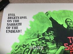 Satanic Rites Of Dracula UK Quad Original Film Poster Linen Backed 1973 Rare