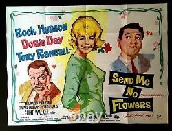 Send Me No Flowers Original Quad Movie Cinema Poster Doris Day Rock Hudson 1964