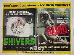 Shivers / Rabid Original Uk Quad Film Poster 1976