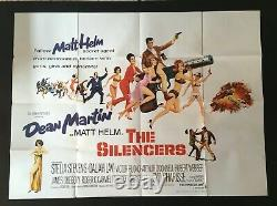 Silencers Original Quad Movie Poster Dean Martin Matt Helm 1966