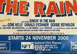 Singing in the Rain Original Double Quad Movie Poster BFI 2000 RR Gene Kelly