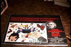 Slapshot British Quad 30x40 Orig Movie Poster Hockey Paul Newman