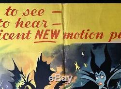 Sleeping Beauty Original Quad Movie Cinema Poster Walt Disney 1959