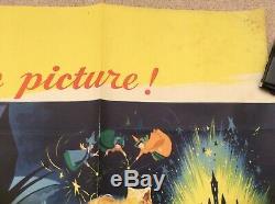 Sleeping Beauty Original UK Quad Movie Film Poster Walt Disney 1959