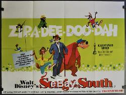 Song Of The South R-1973 Orig 40x30 Nm Brit Quad Movie Poster Ruth Warrick