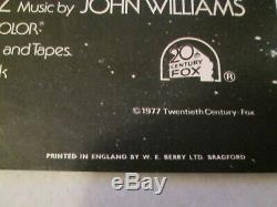 Star Wars 1977 Orig 30x40 British Quad Academy Award Movie Poster
