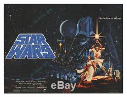 Star Wars 1977 RARE HILDEBRANDT BRITISH QUAD MOVIE POSTER NearMINT C9 CONDITION