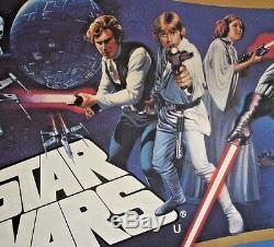 Star Wars / Empire Strikes Back, Double Bill, Orig 1980 British Quad Film Poster