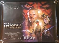 Star Wars Episode 1 Phantom Menace Original Quad Movie Poster 1999