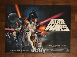 Star Wars Original Pre Oscar British Quad Movie Poster Lucas Chantrell