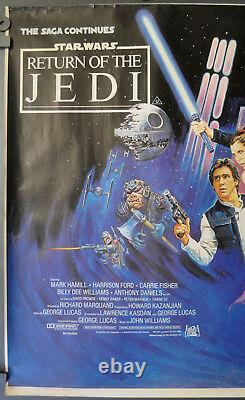 Star Wars Return Of The Jedi 1983 Orig 30x40 Rolled Quad Movie Poster