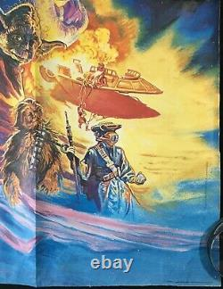 Star Wars Return of the Jedi ORIGINAL Quad Movie Poster Josh Kirby Artwork 1983