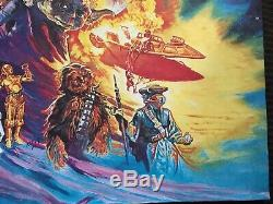 Star Wars Return of the Jedi UK Quad Original Rolled Movie Poster 27x40 Rare