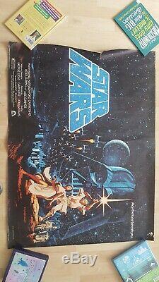Star Wars hilderbrant British Quad Original Movie Poster From 1977