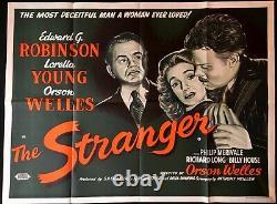 Stranger Original Quad Movie Cinema Poster Orson Welles Film Noir Vintage 1946