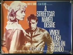Streetcar Named Desire Original Quad Movie Poster Vivien Leigh Marlon Brando BFI