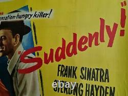 Suddenly! Frank Sinatra 1954 UK Quad Original Movie Poster (Linen backed)