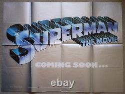 Superman The Movie 1978 Extremely Rare Original UK Teaser Quad Poster
