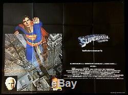 Superman The Movie Original Quad Movie Poster 1978 Christopher Reeve