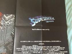 Superman The Movie Original UK Quad Poster 1978 Christopher Reeve
