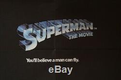 Superman the Movie UK Quad Cinema/Movie Poster