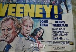 Sweeney! 1977 Original Uk Film Quad Poster- John Thaw Dennis Waterman Diane Keen