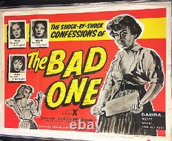 THE BAD ONE!'57 a. K. A. SORORITY GIRL CLASSIC ORIGINAL U. K. QUAD FILM POSTER