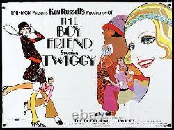 THE BOY FRIEND BOYFRIEND'72 British Quad poster white style Ken Russell Twiggy