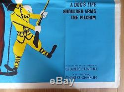 THE CHAPLIN REVUE (1959) original UK quad film/movie poster, Charlie Chaplin