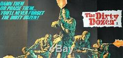 THE DIRTY DOZEN (1967) original UK quad movie poster-1st RELEASE- Marvin Bronson