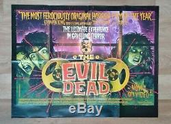 THE EVIL DEAD (1981) original UK quad movie poster -Bruce Campbell ZOMBIE Horror