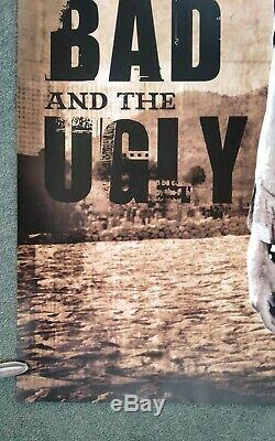 THE GOOD THE BAD AND THE UGLY original d/s quad movie poster Park Circus 2008R