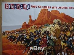 THE HALLELUJAH TRAIL (1965) original UK quad film/movie poster, western