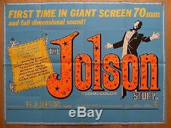THE JOLSON STORY (1946) RR original UK quad film/movie poster, Al Jolson