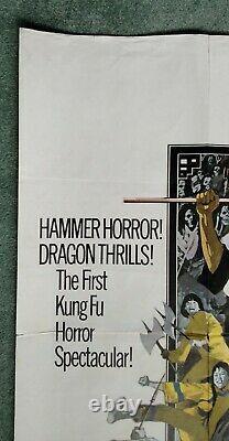 THE LEGEND OF THE 7 GOLDEN VAMPIRES (1974) original UK quad movie poster -HAMMER