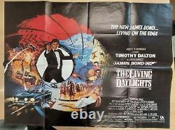 THE LIVING DAYLIGHTS (1987) original UK quad film/movie poster, James Bond 007