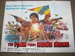 THE MAN FROM HONG KONG original BRITISH QUAD -VERY RARE
