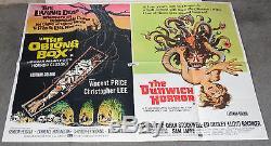 THE OBLONG BOX/DUNWICH HORROR original rare quad movie poster VINCENT PRICE