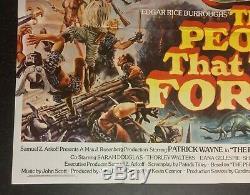 THE PEOPLE THAT TIME FORGOT Original Cinema UK Quad Movie POSTER 1977