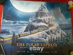 THE POLAR EXPRESS 2004 Cinema Quad Film Poster Tom Hanks 30x40