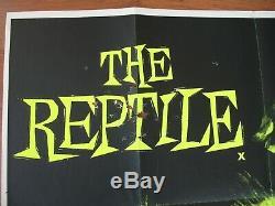THE REPTILE (1966) Original UK Quad Poster, Fair Condition, HAMMER HORROR