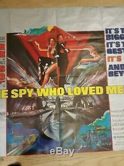 THE SPY WHO LOVED ME original UK quad movie poster JAMES BOND 007 Roger Moore