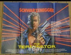 THE TERMINATOR Original 1984 UK Quad Cinema Movie Film Poster Poster 30x40